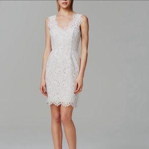 Shoshanna Rose Dress White 8